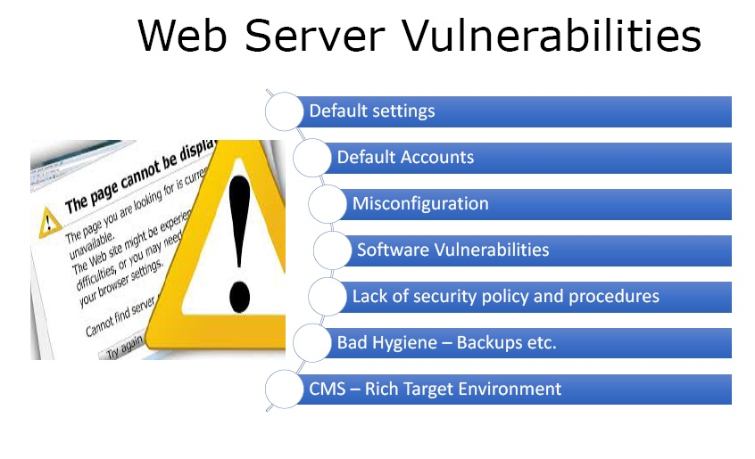 web server vulnerabilities